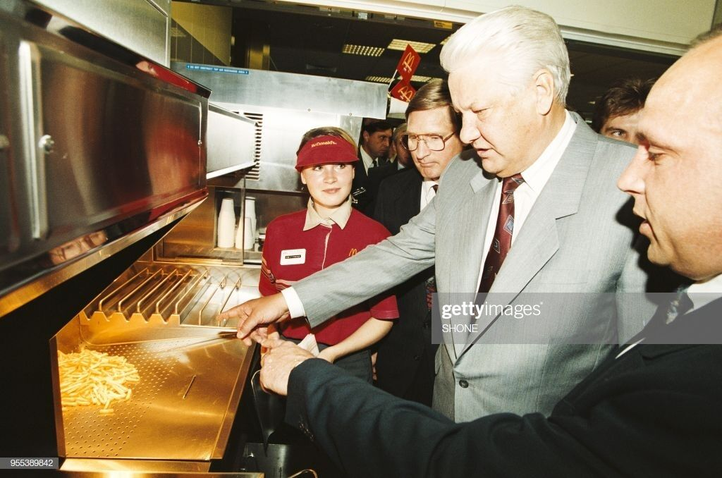 Екс-президент Росії Борис Єльцин в McDonald's