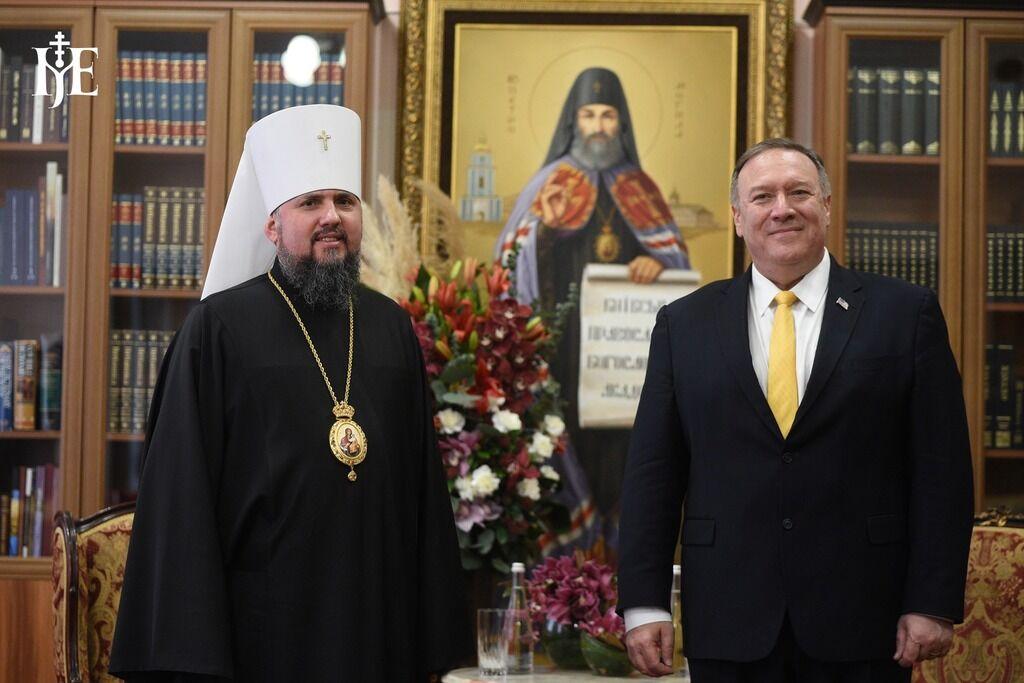 Помпео и Епифаний на встрече в Михайловском соборе