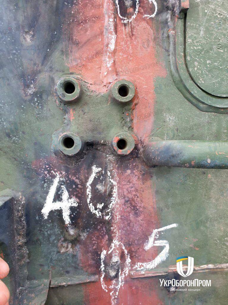 Испытания украинской бронетехники