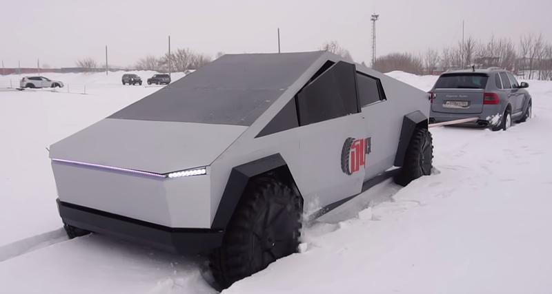 Российский Tesla Cybertruck vs Porsche Cayenne