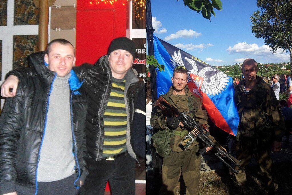 """Евтушенко (справа) с Павлом Демидовым, который тоже является разведчиком-снайпером """"ДНР"""""""