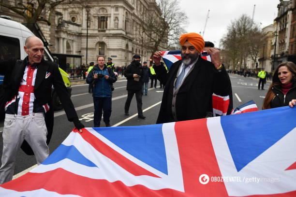 Британия празднует Brexit