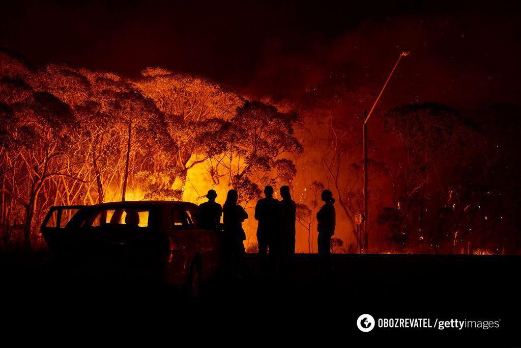 В Австралии не прекращаются лесные пожары
