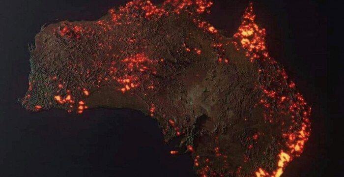 3D-визуализация пожаров в Австралии