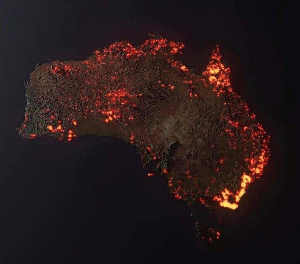 3D-візуалізація пожеж в Австралії