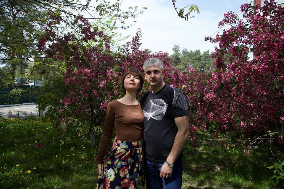 Володимир Гапоненко з дружиною