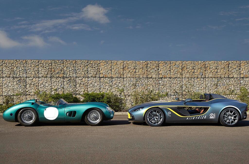 Aston Martin DBR1 1959 року і концепт Centenary CC100 Speedster Concept 2013 року