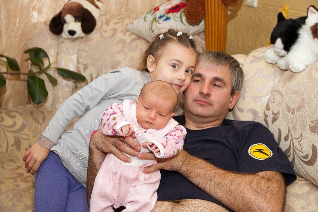 Володимир Гапоненко з дітьми