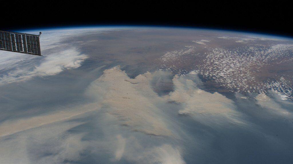 Дым от австралийских пожаров (снимок NASA)