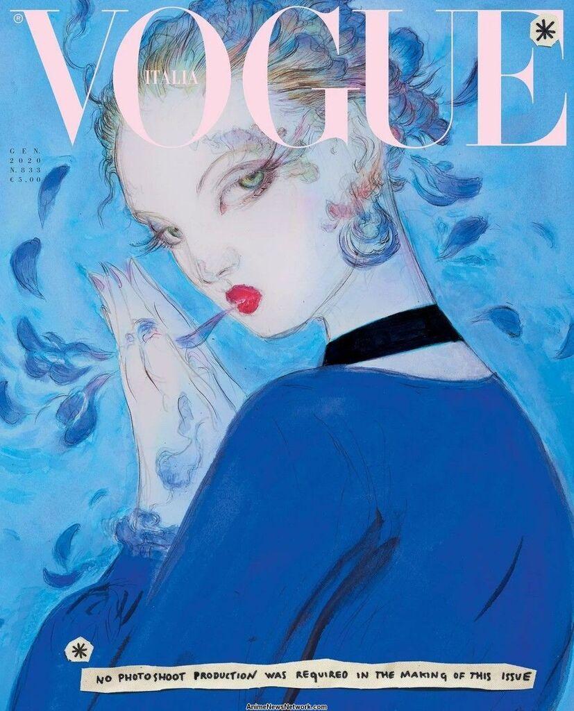 Иллюстрации для январского выпуска журнала Vogue Italia