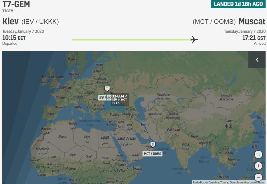 З Омана до Москви літав загадковий літак
