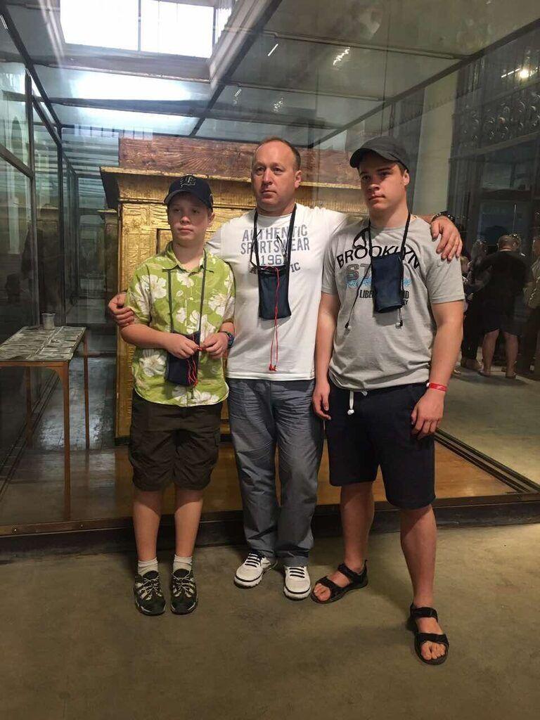 Хоменко с сыновьями