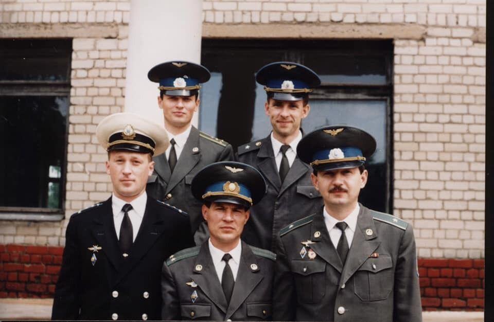 Сергей Хоменко (слева) во время учебы