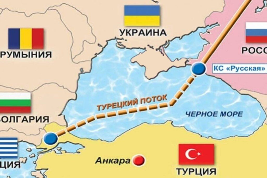 """Схема """"Турецкого потока"""""""