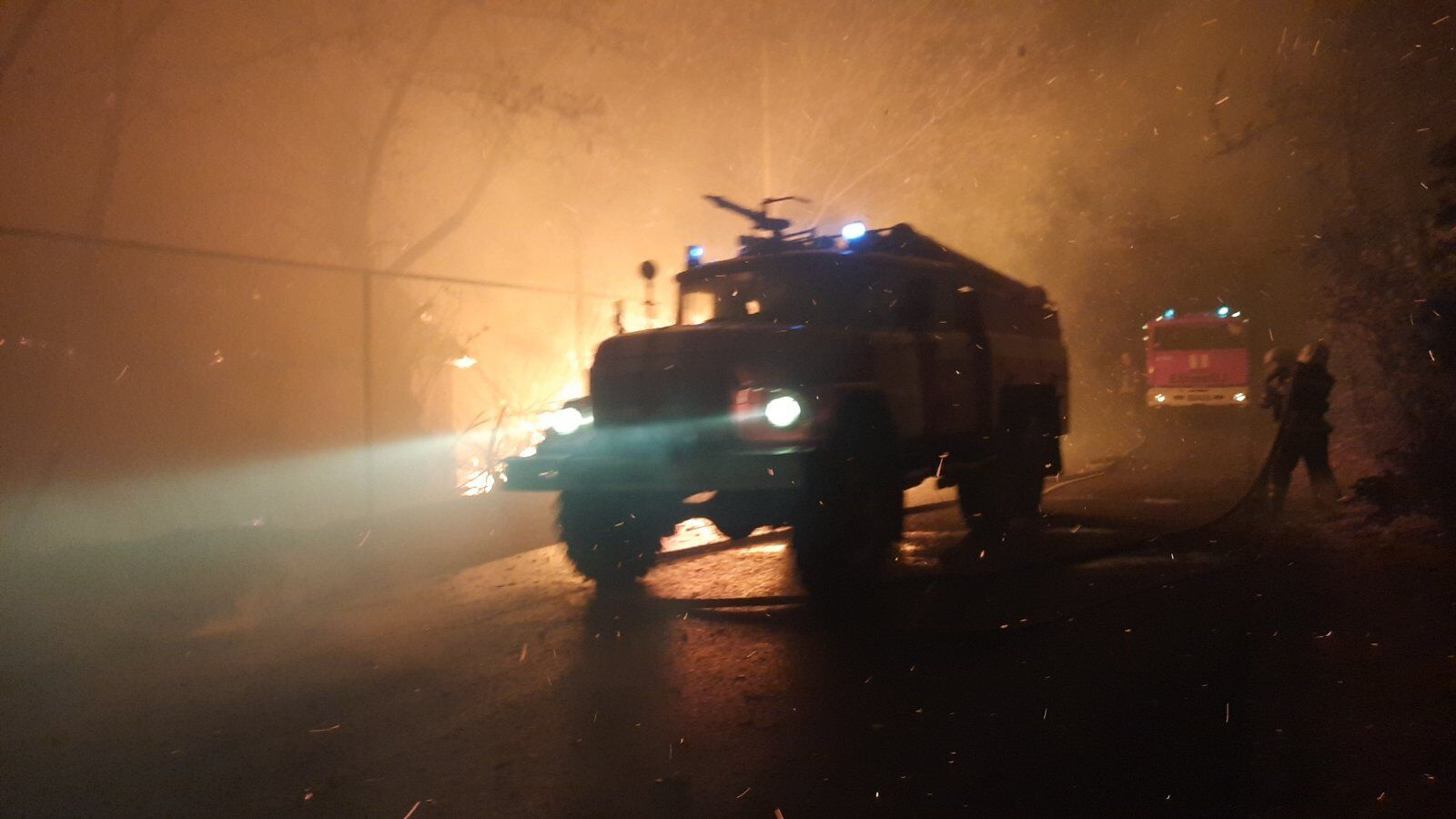 Ситуацию в зоне пожаров на Луганщине ухудшил порывистый ветер.