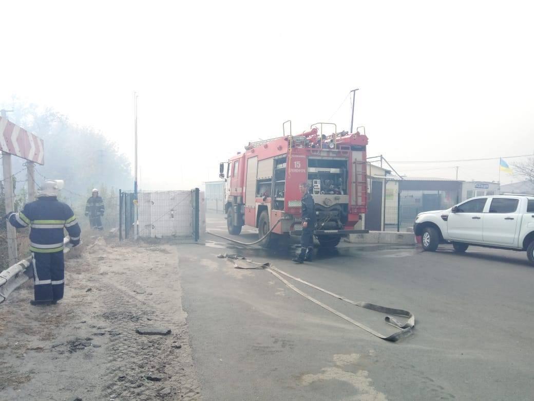 Борьбу с огнем усложнило наличие взрывоопасных предметов.