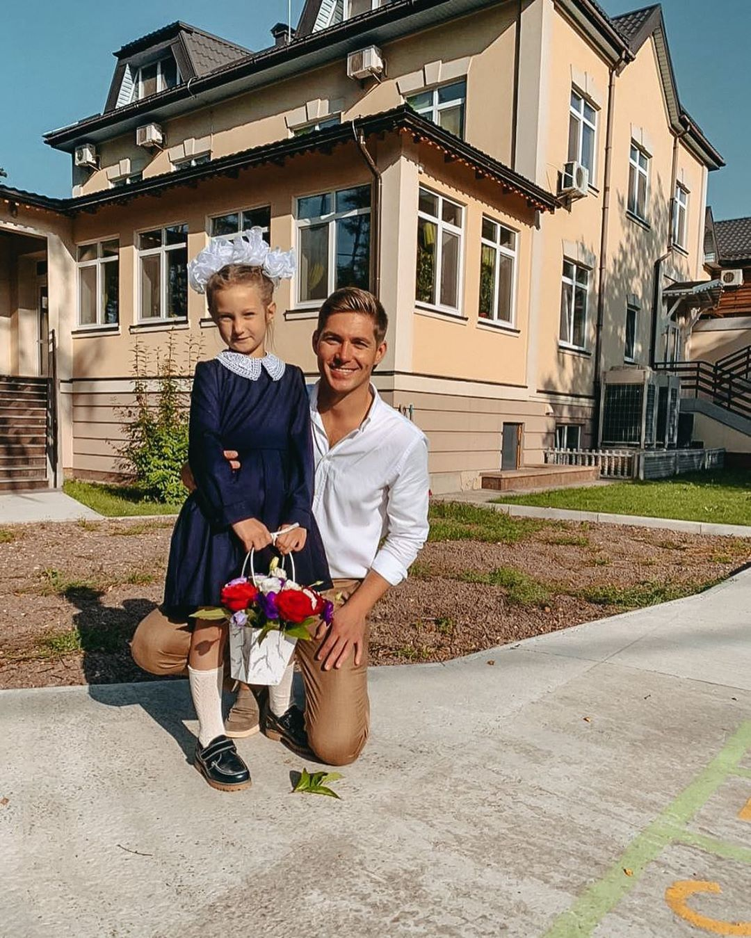 Володимир Остапчук із дочкою.