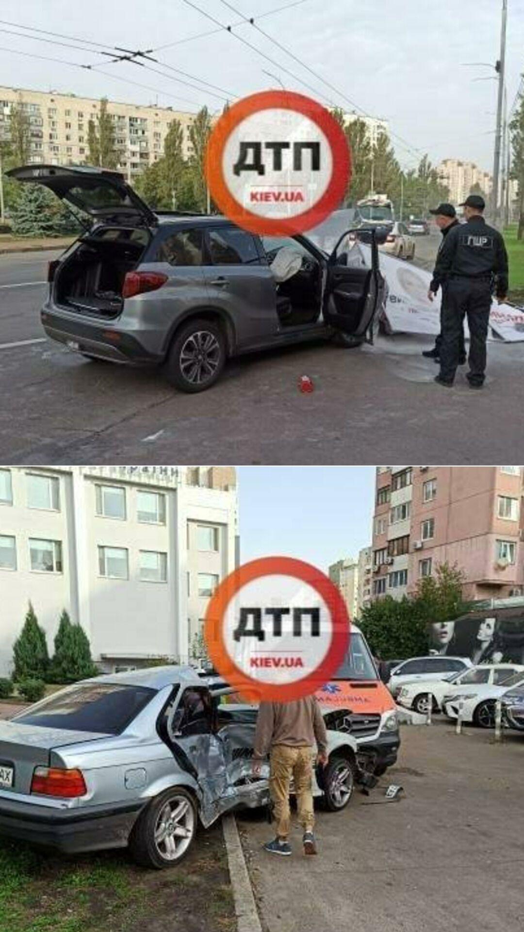 В результате аварии в Киеве пострадали два человека