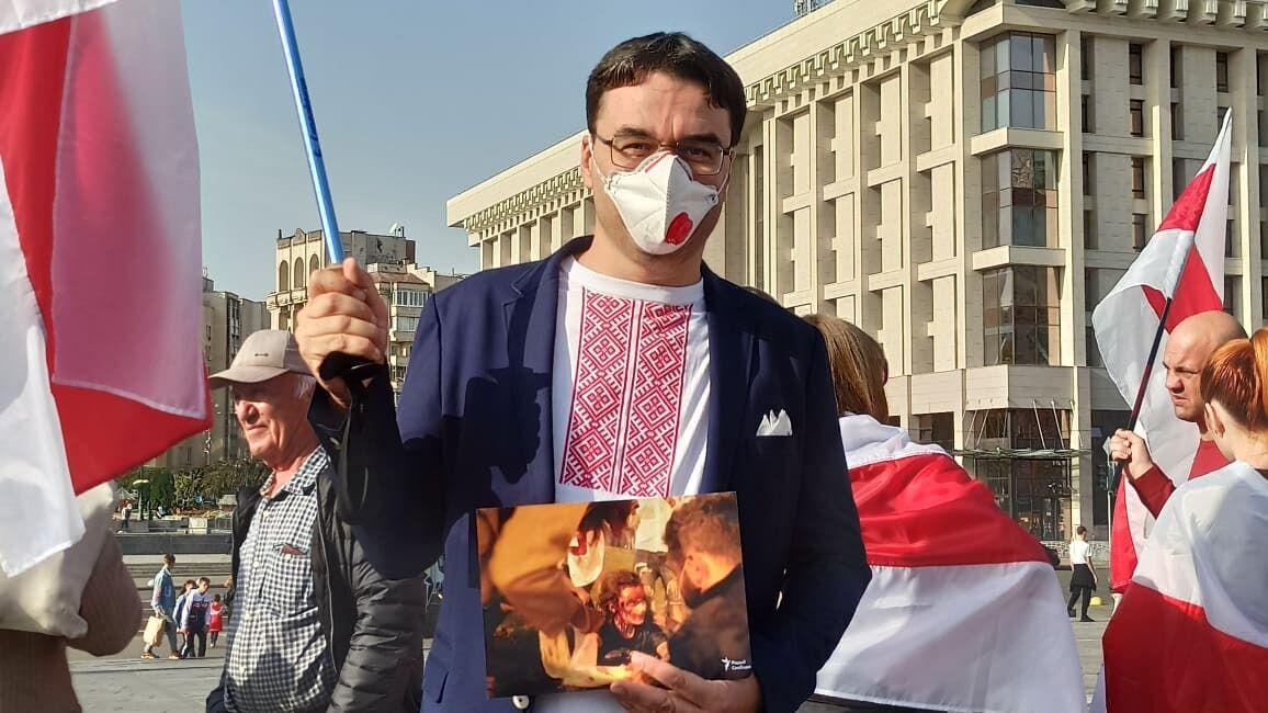 Акция солидарности с политзаключенными Беларуси