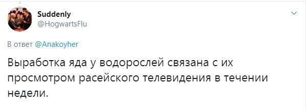 Водоросли выработали яд после просмотра российского ТВ