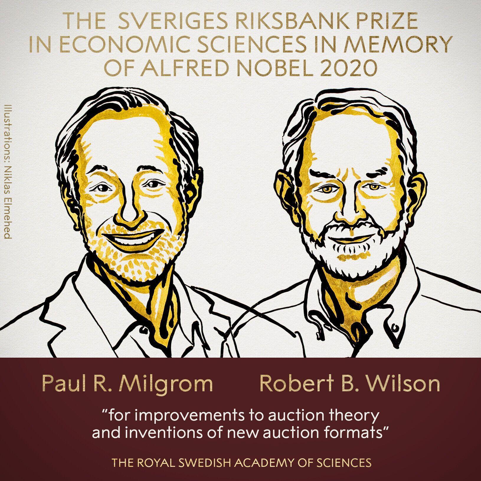 Нобелевская премия по экономике досталась двум лауреатам
