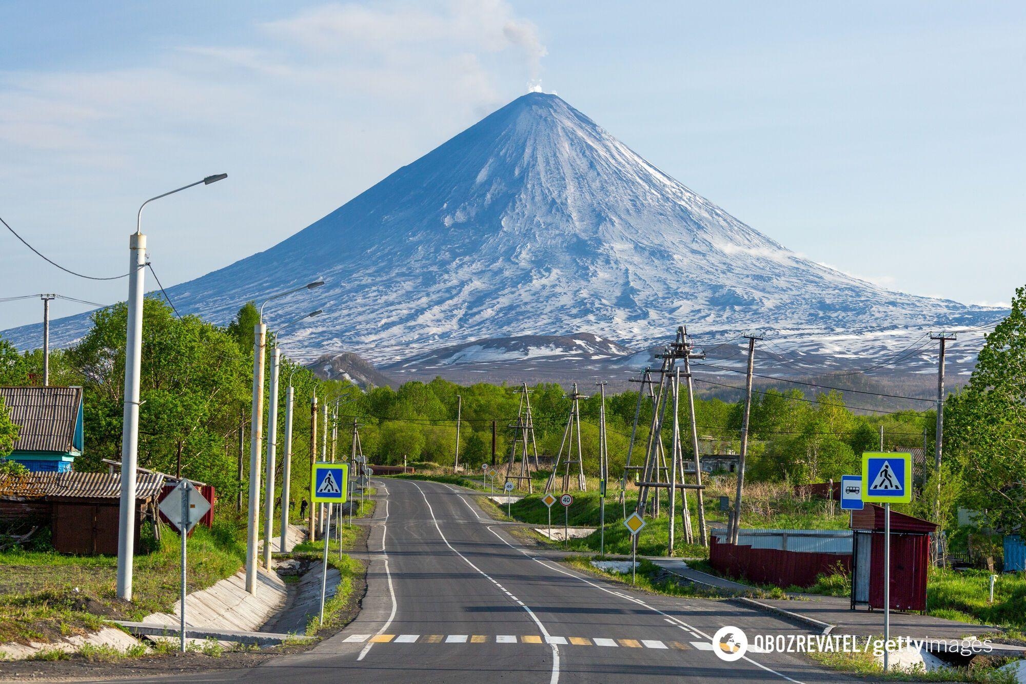 Вулкан Ключевская Сопка.