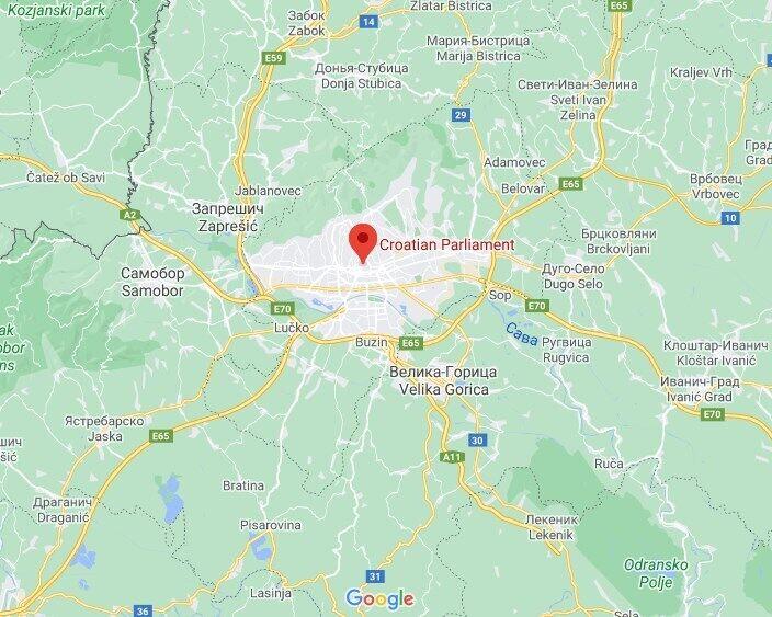 Чоловік відкрив вогонь у центрі Загреба.