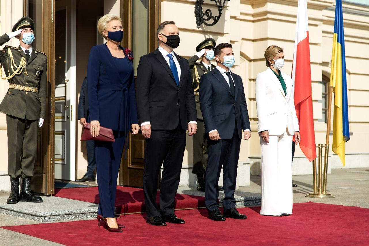 Зеленський зустрівся із президентом Польщі Дудою