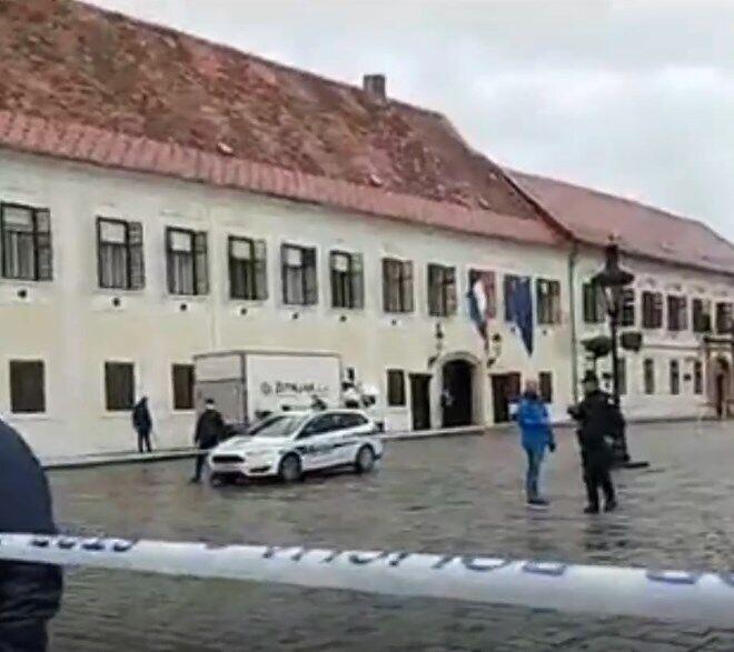 Невідомий поранив поліцейського біля хорватського парламенту.