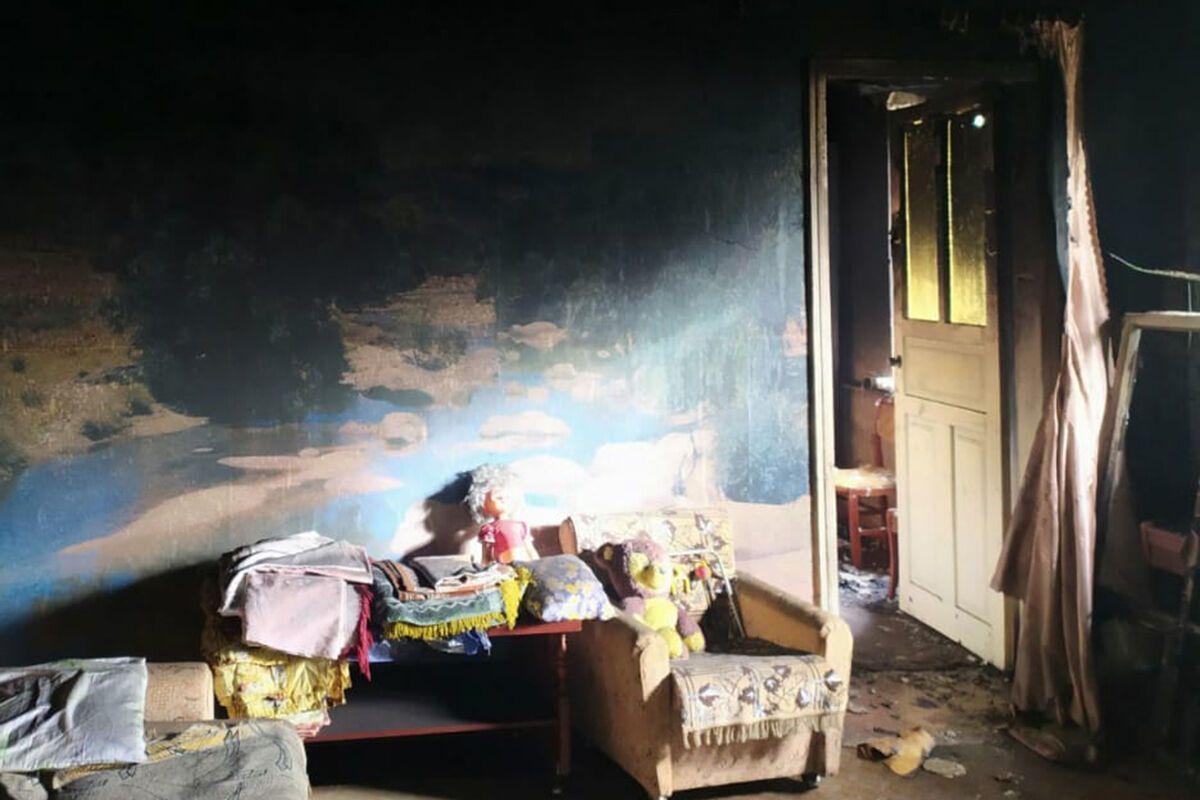В селе Миролюбовка горел частный дом.