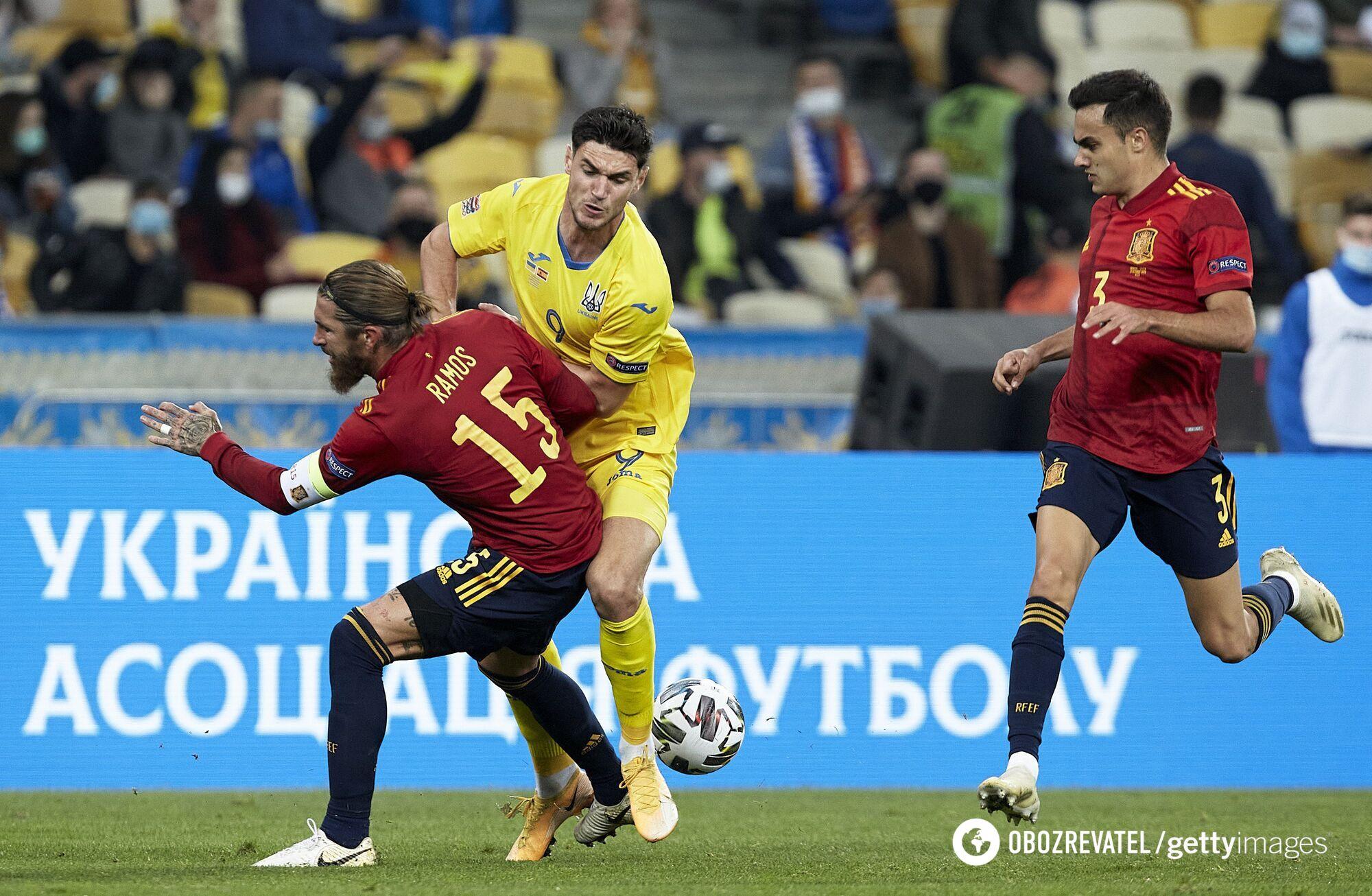Уперше в історії: Україна сенсаційно обіграла Іспанію в Лізі націй