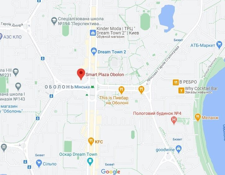 Инцидент произошел возле ТЦ Smart Plaza