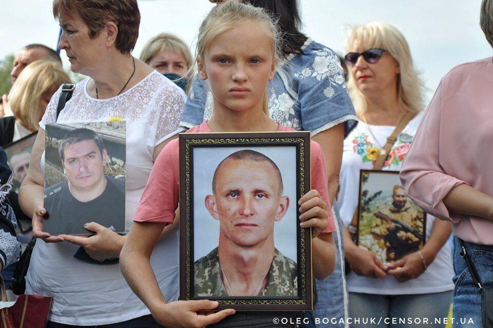 Дочка Ярослава Журавля – Ярослава – на Марше.