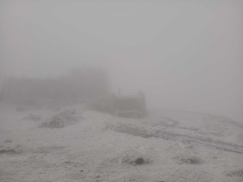 Снег в западной Украине.