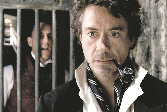 Роберт Дауни-младший в роли Шерлока Холмса
