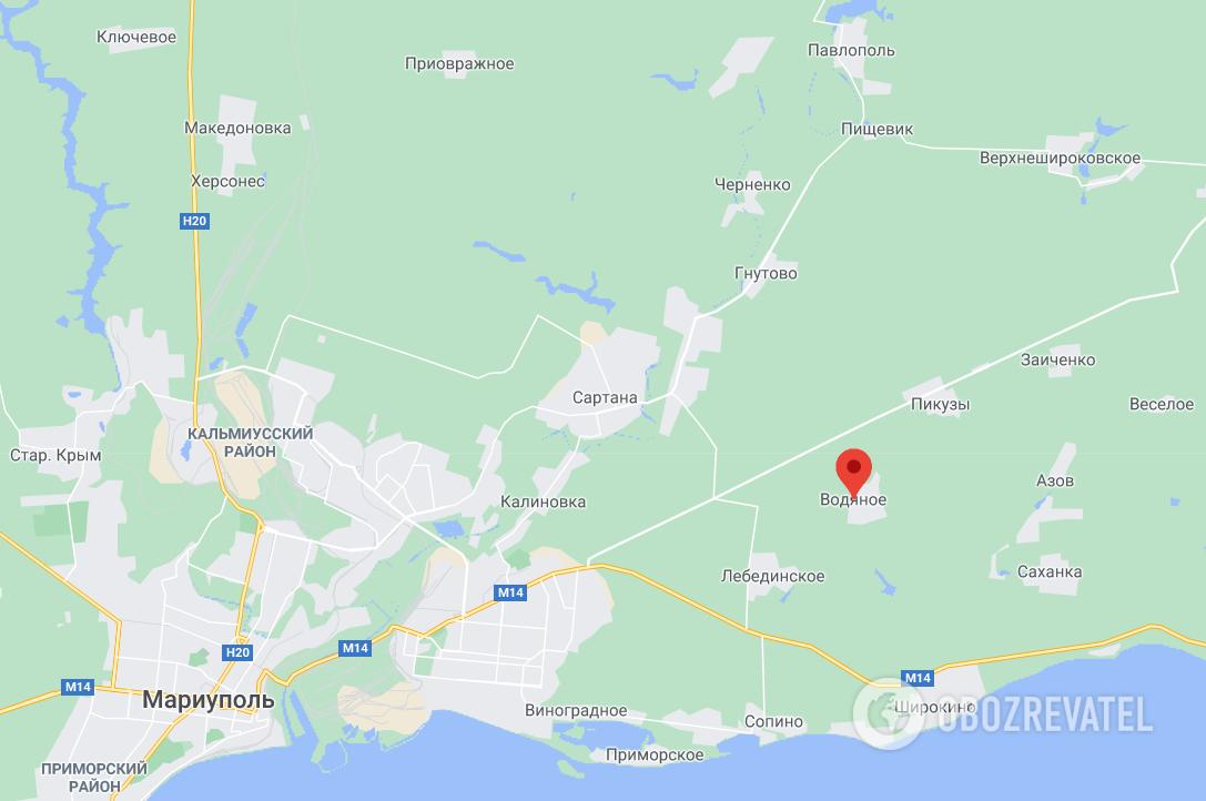 Террористы стреляли возле Водяного.