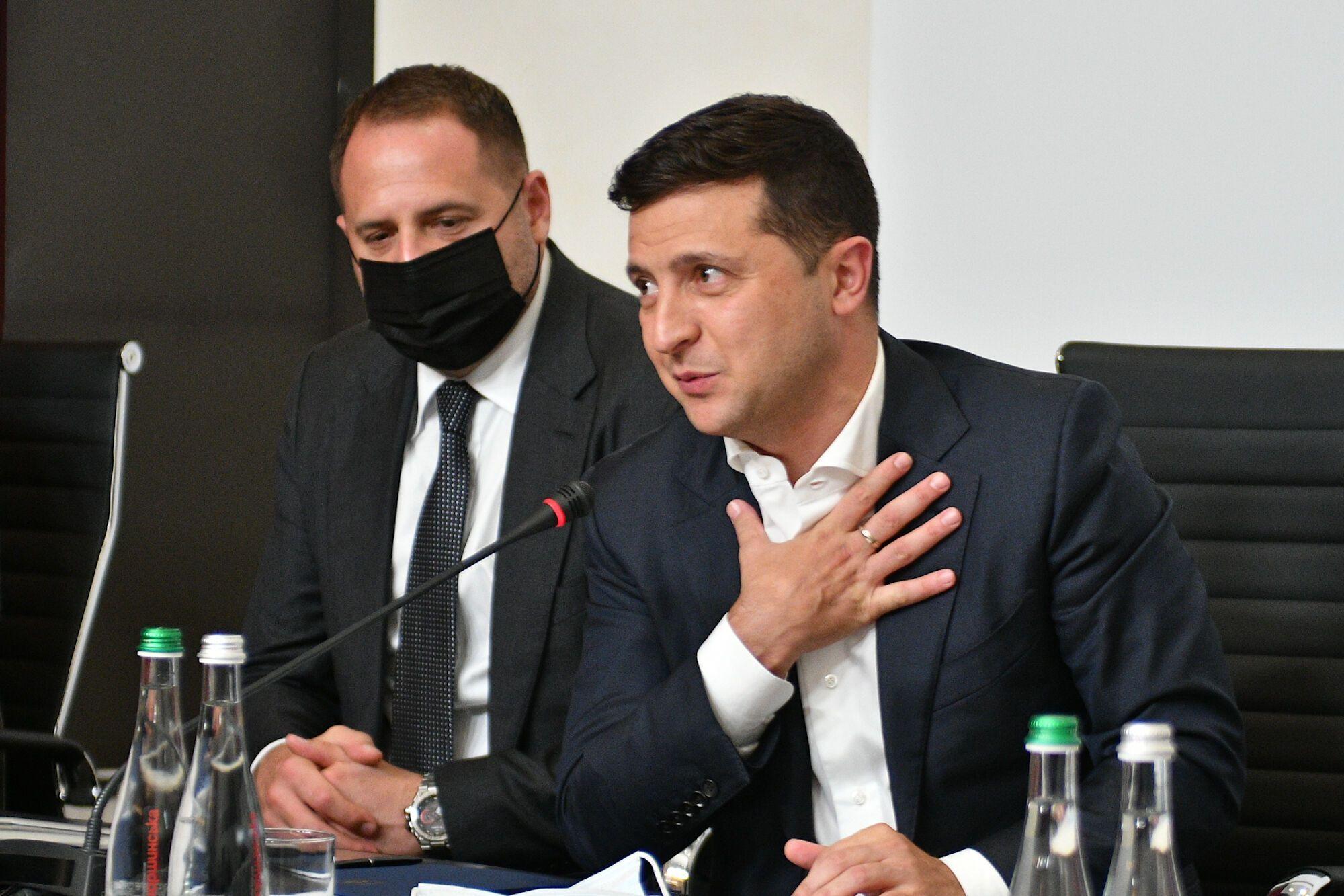 Зеленский на встрече ветеранов в Динамо