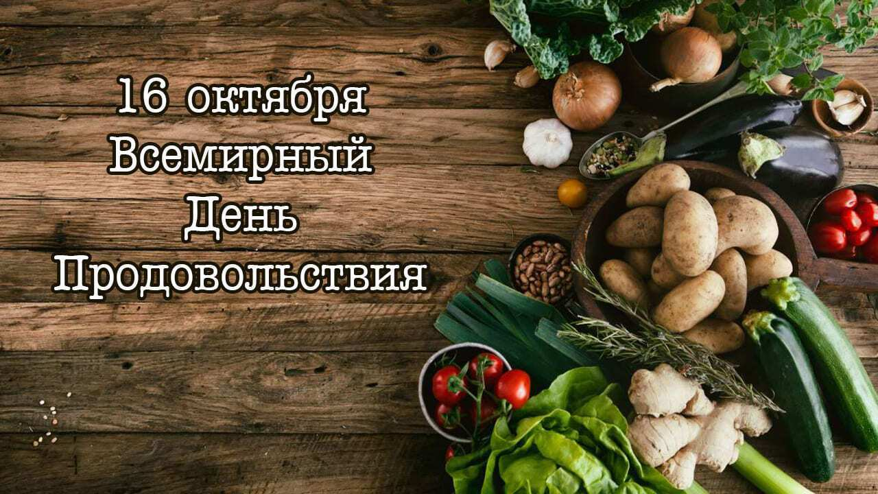 Всемирный день продовольствия отмечается 16 октября