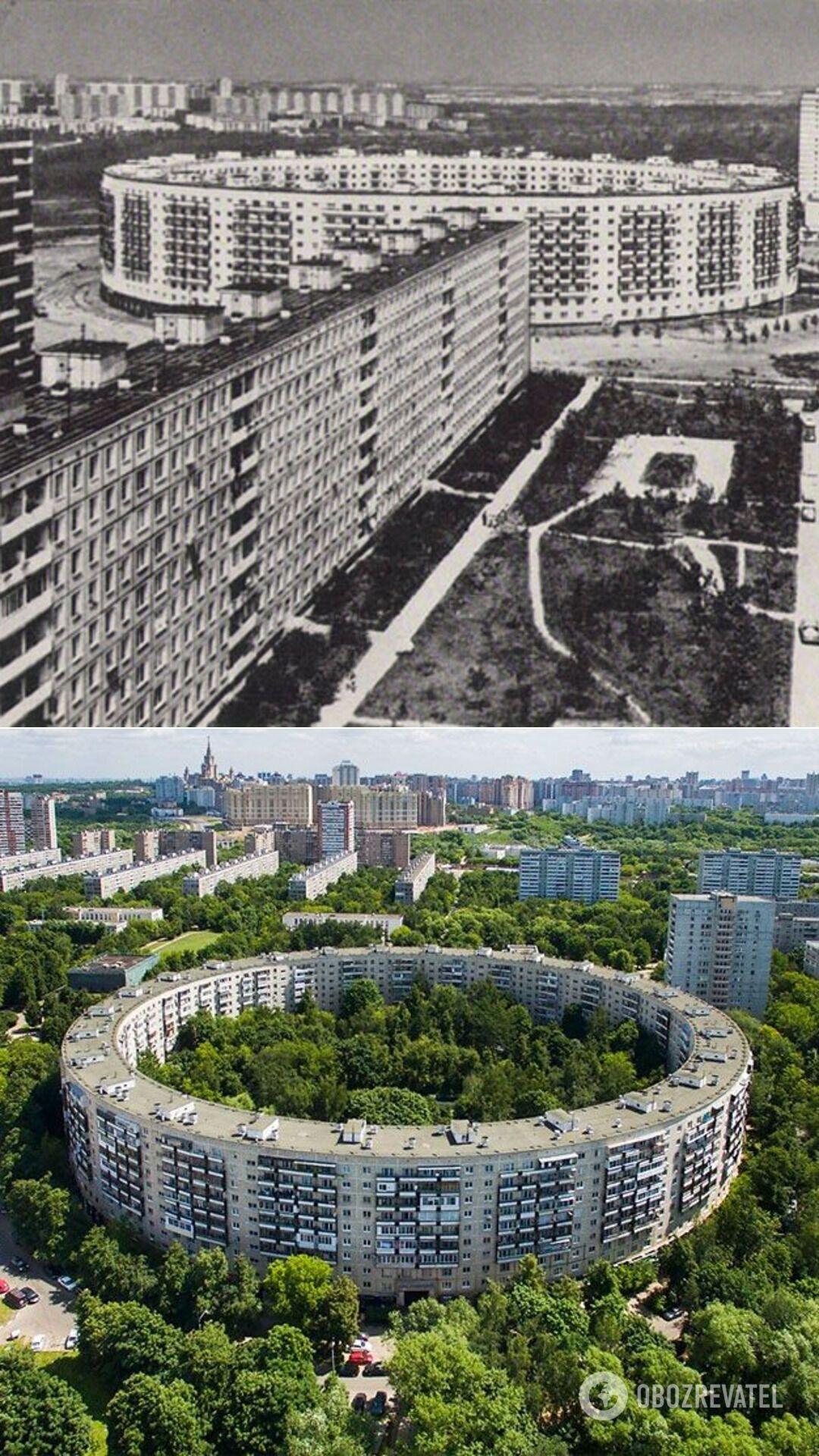 """Два """"дома-кольца"""" или """"дома-бублика"""", Москва (РФ), 60-70-е годы"""