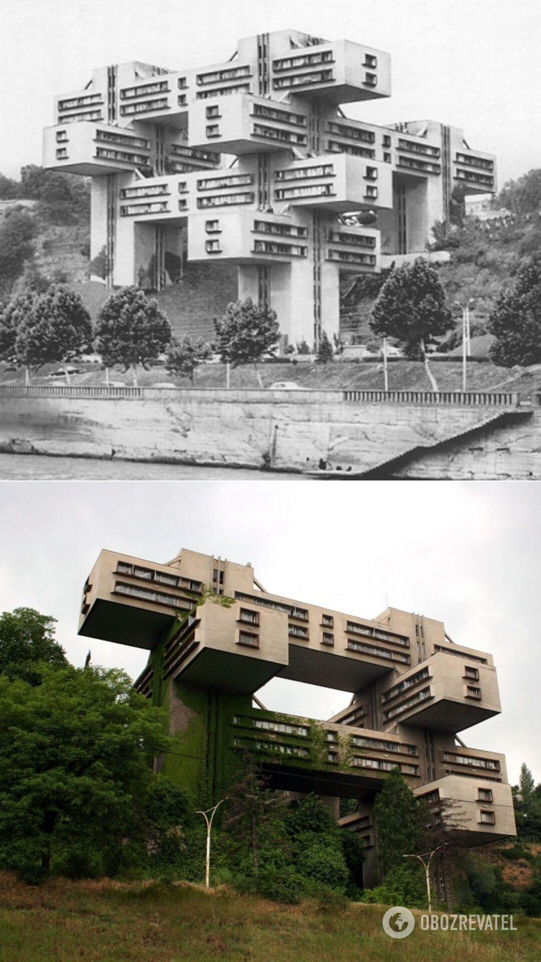 Инженерный корпус Министерства автомобильных дорог Грузинской ССР, Тбилиси (Грузия), 1975 год