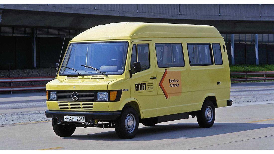 Mercedes-Benz T1 307E - электрическая версия знаменитого микроавтобуса, о которой мало кто слышал