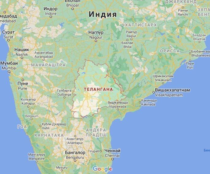 Найбільше постраждав штат Телангана.