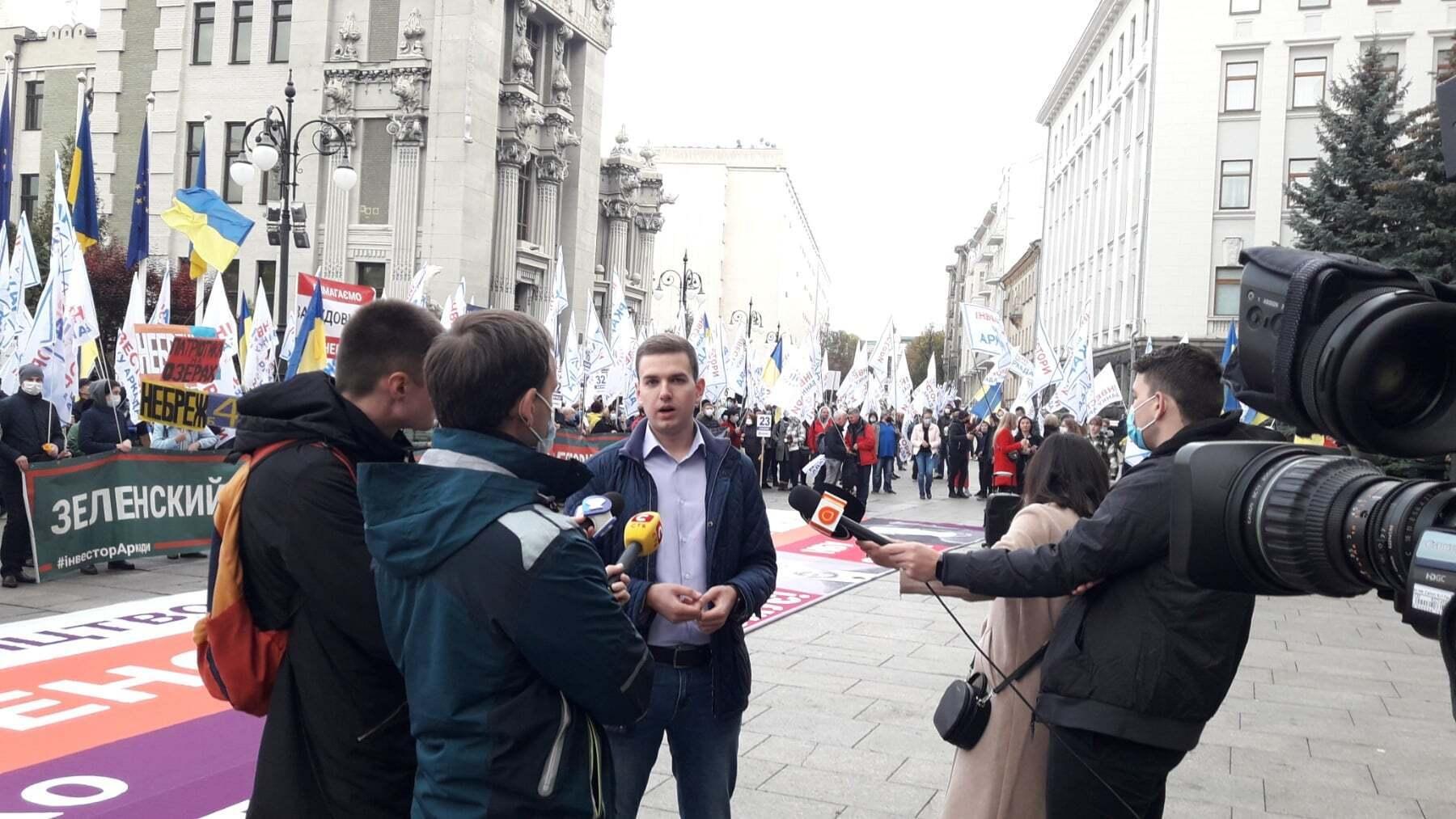 Віталій Щербаков на мітингу