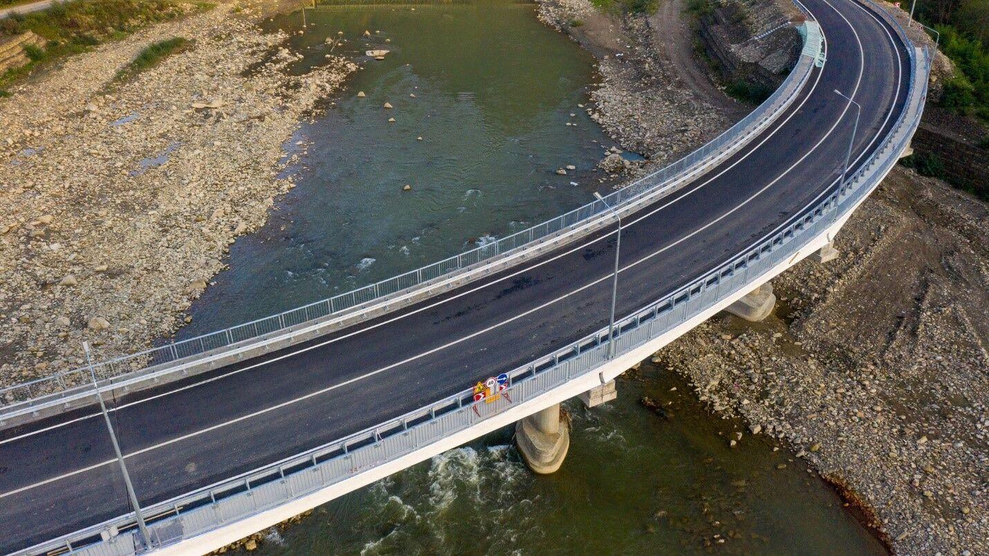 На трассе Р-62 завершена реконструкция двух мостов через реку Черемош