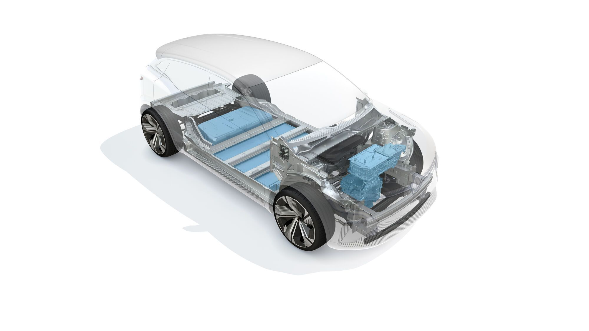 Renault Megane eVision построен на модульной электрической платформе CMF-EV