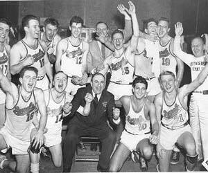 1946. Royals sweep Sheboygan to win the NBL Championship.