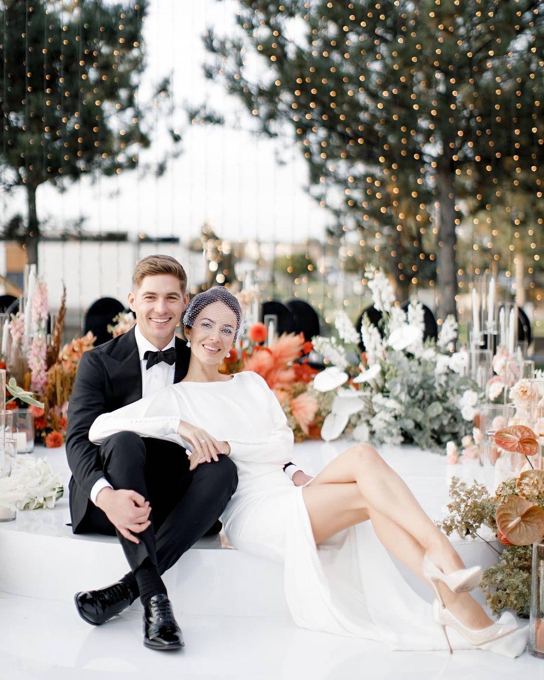 Владимир Остапчук и Кристина Горняк сыграли свадьбу.