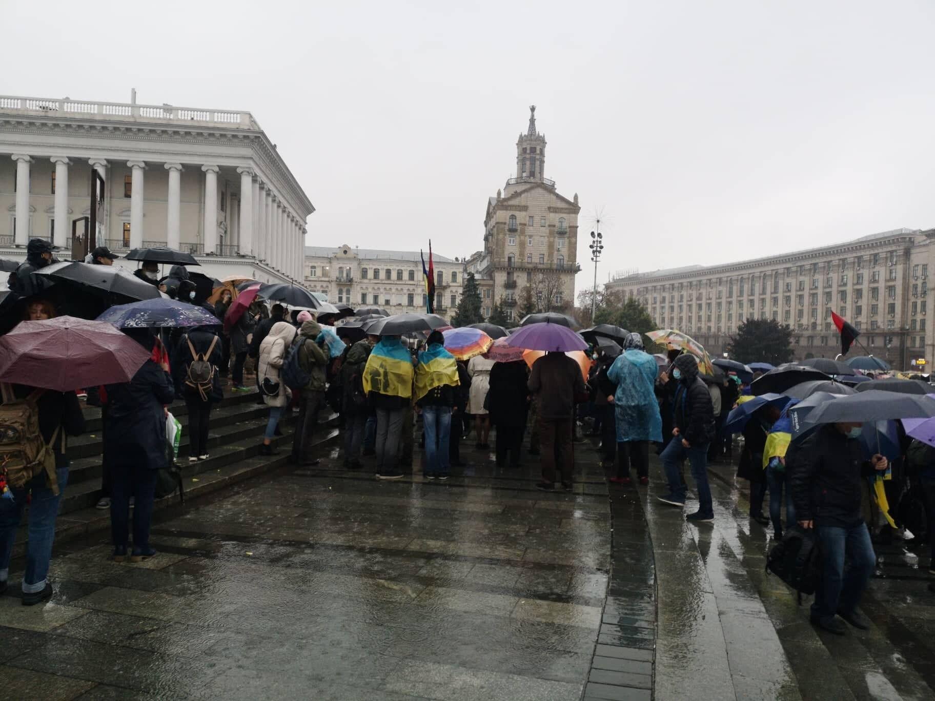 Прощание с ветераном на Майдане.