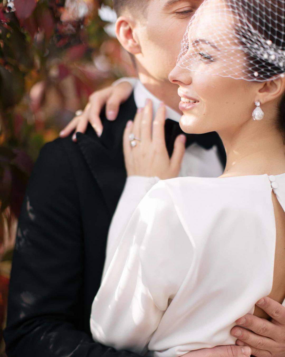 Владимир Остапчук обменялся брачными обетами с Кристиной Горняк.