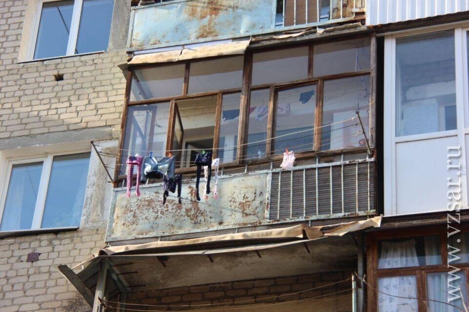 Балкон квартиры, где жила семья